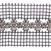 Rhinestone Banding 2 Row On Black Net